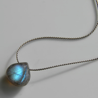 Labradorite Necklace on Silk