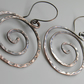 Large Copper Spiral Earrings