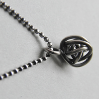 Sterling Silver Love Knot Necklace