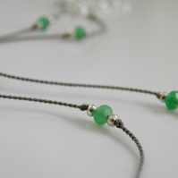 Green Gemstone Ankle Bracelet