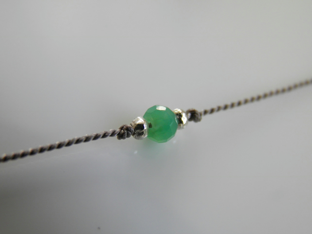 Emerald Green Onyx Ankle Bracelet