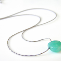 Amazonite Necklace on Silk