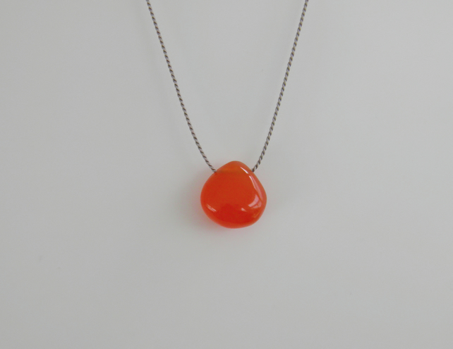 Orange Gemstone Necklace - Carnelian