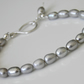 Pearl Bracelet with Sterling Silver Handcrafted Fastener Large