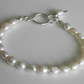 Pearl Bracelet with Sterling Silver Handcrafted Fastener