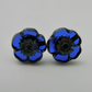 Royal Blue Flower Post Earrings