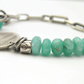 Sterling Silver Bracelet with Amazonite Gemstone
