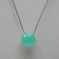 Aqua Blue Chalcedony Necklace