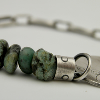 Turquoise Bracelet with Sterling Silver