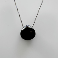 Black Gemstone Spinel Necklace