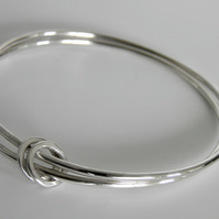 Sterling Silver Double Bangle Ring Design