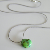 Green Mohave Turquoise Gemstone Necklace