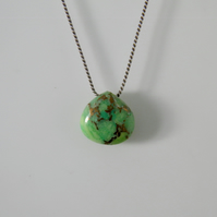 Green Turquoise Gemstone Necklace