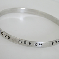 Sterling Silver Love Bangle