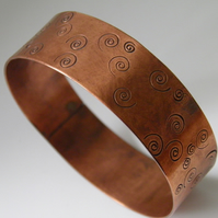 Wide Copper Bangle
