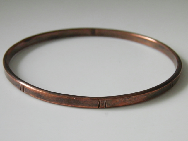 Natural Copper Bangle