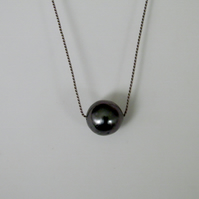 Black Pearl Necklace Tahitian Black Pearl