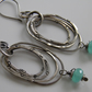 Aqua Chalcedony Sterling Silver Earrings