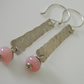 Pink Opall Earrings in Sterling Silver