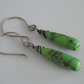 Green Mohave Turquoise Gemstone Earrings