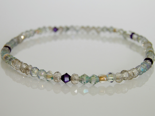 Grey Anklet Stretch Elasticated