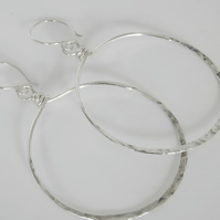 Large Sterling Silver Hoops