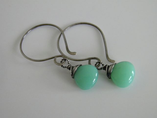 Chrysoprase Gemstone Earrings