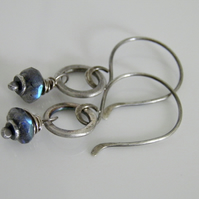 Labradorite Earrings Sterling Silver