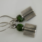 Russian Green Diopside Gemstone Earrings