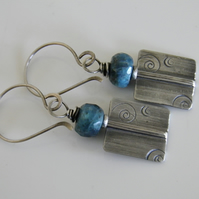 Silver Apatite Earrings