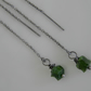 Russian Green Diopside Threader Earrings