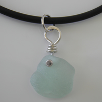 Blue Sea Glass Choker