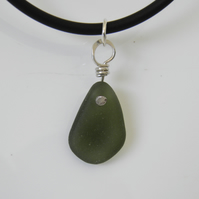Green Sea Glass Choker