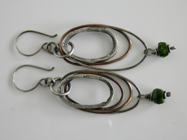 Russian Green Chrome Diopside Earrings