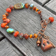 Sunset House Bracelet - reserved for Lesley