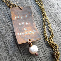 Tak a cup o' kindness chain necklace