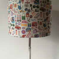 60's Inspired Drum 20cm Lampshade