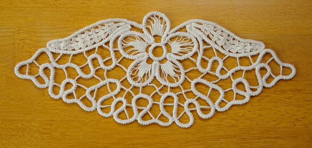Hand Made Flower Doilies Home Ornament