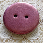 Rose pink polymer clay round button