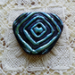 Triangle polymer clay focal button