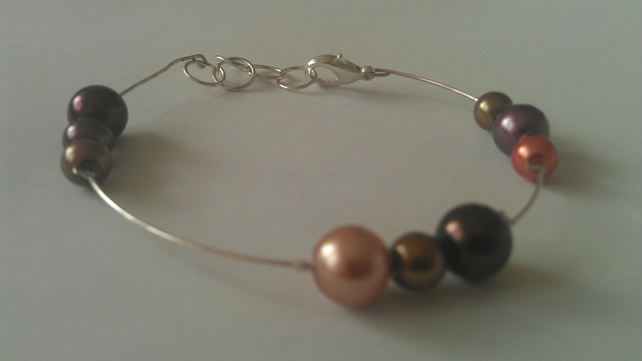 Autumnal earrings and bracelet set