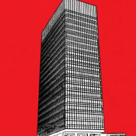 LAST REMAINING PRINT                Sheffield University Arts Tower    Red