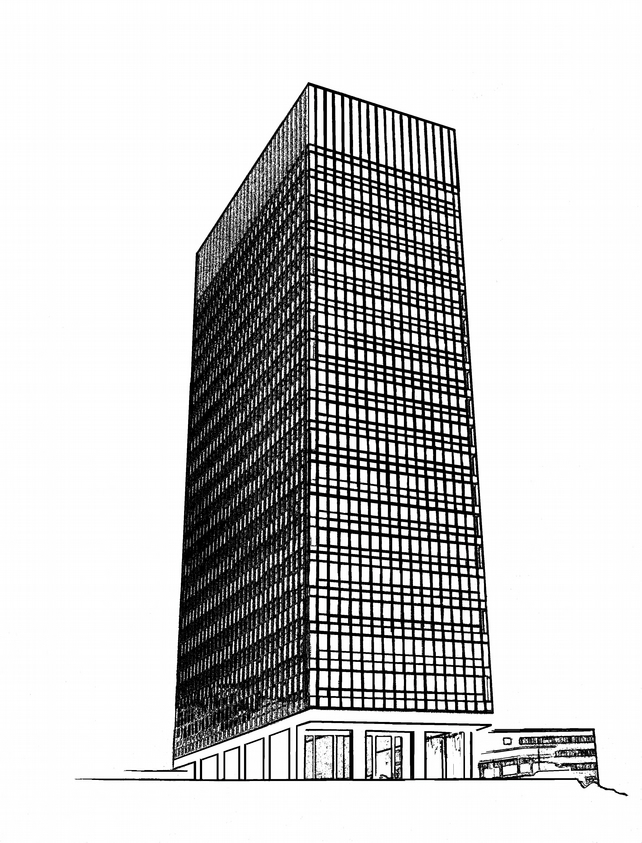 Artist Proof Sheffield University Arts Tower -White