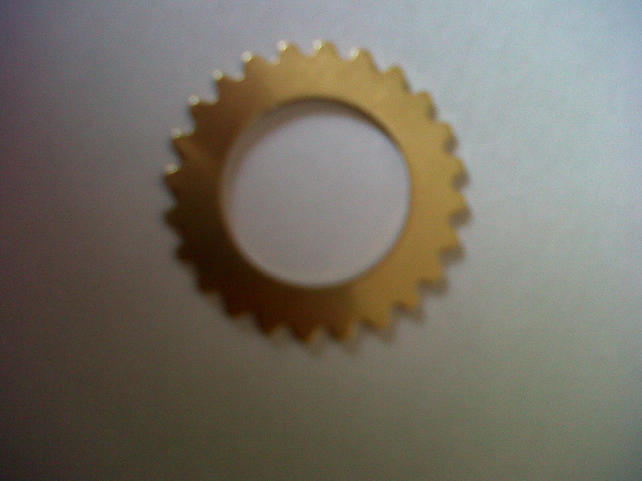 Steampunk Cogs - Raw Brass - Pack of 12 - perfect for Steampunk Jewellery
