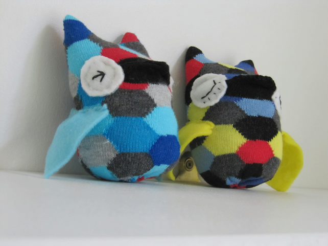 Baby owls - sock toys (sold together)