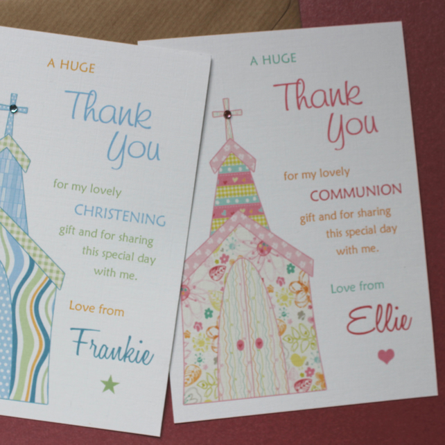 Whimsy Church Pack Of 10 Thank You Cards For Folksy