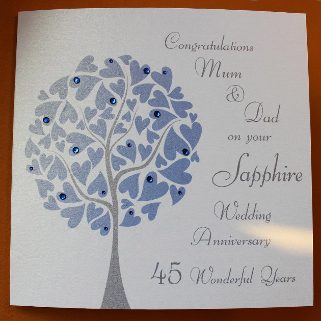 Personalised Shire Wedding Anniversary Card