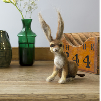 Hare - needle felted
