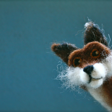 Standing Felted Fox