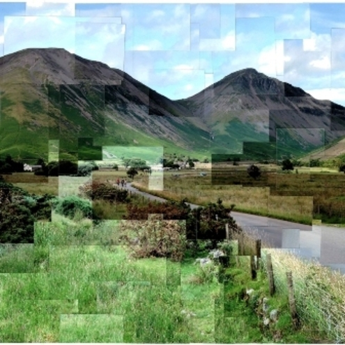 Wasdale, The Lake District collage print